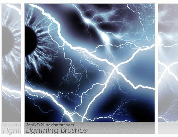 free download lightning brushes photoshop version
