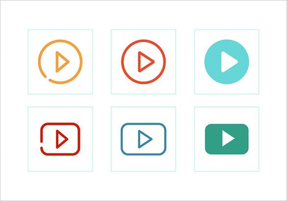 free vector multimedia play buttons