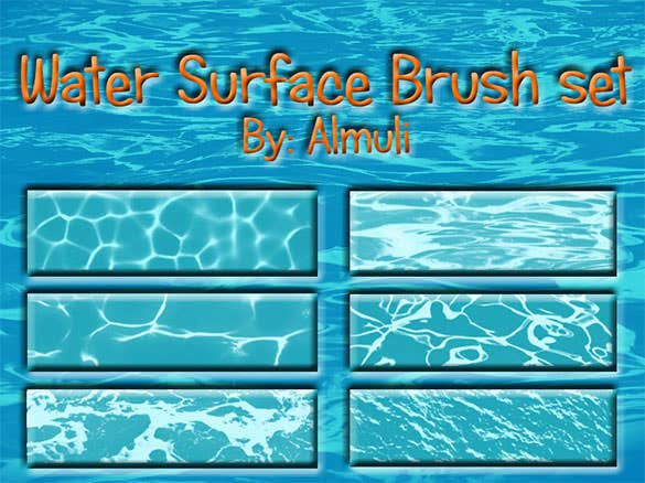 water surface brush set for ps free download