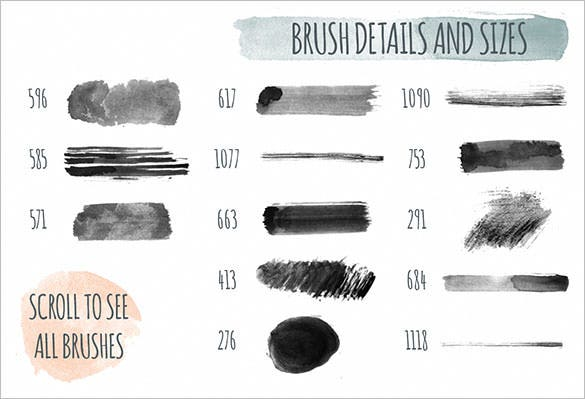 handmade watercolor ps brushes abr download
