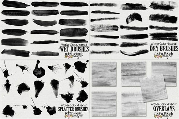 watercolor arsenal collection brushes abr download