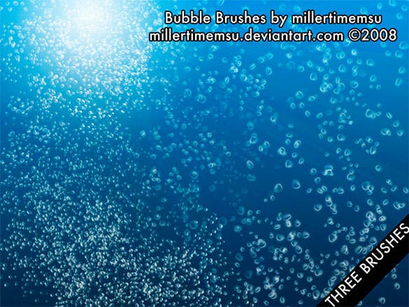 water bubbles brush free download