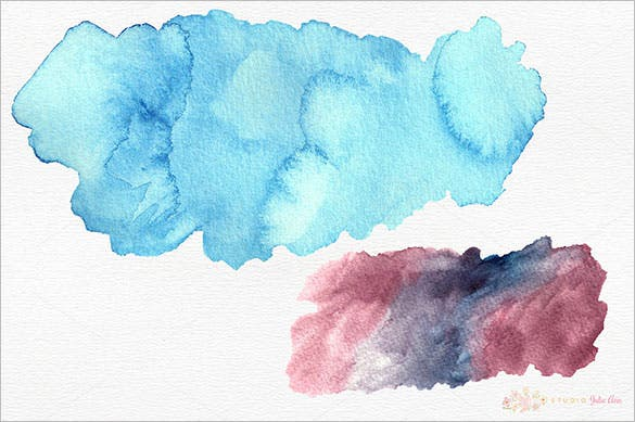 watercolor splotches shapes brushes premium download