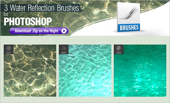 download photoshop brushes for painting water reflections