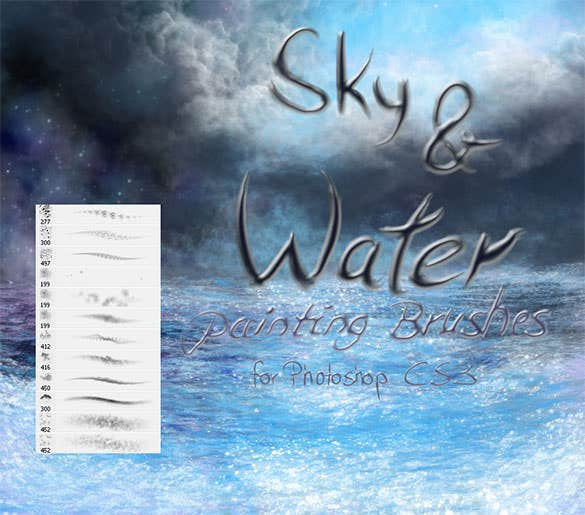 free sky and water painting brushes download