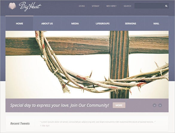 responsive church psd template