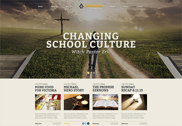 premium church psd theme