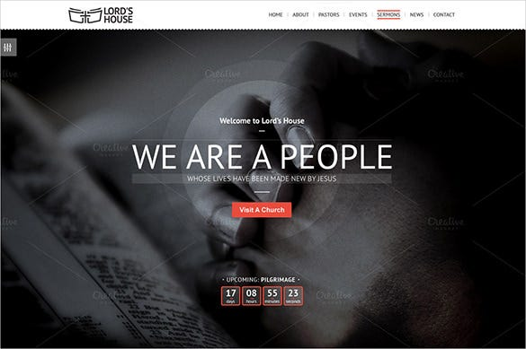 lovable church psd theme