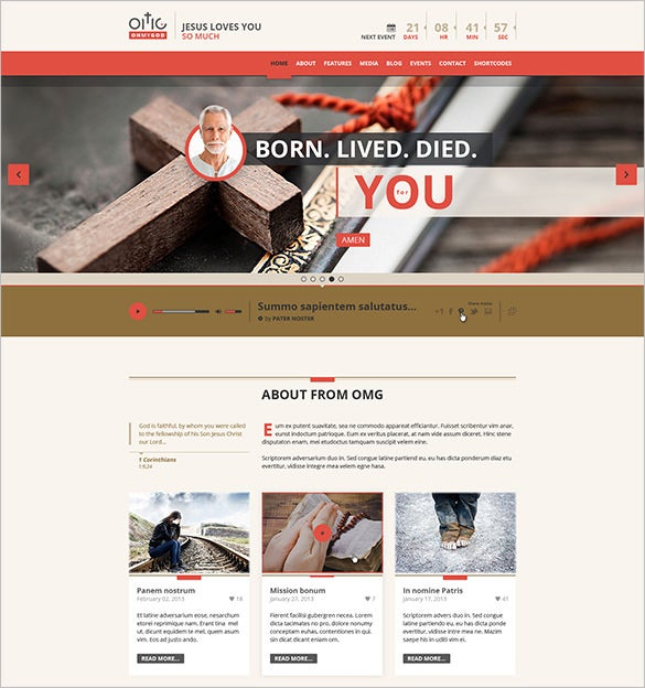 splendid church psd template