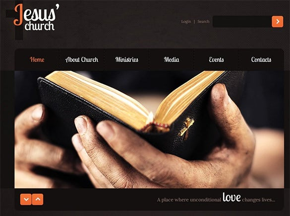 drak church psd theme