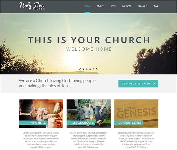 holy church psd theme