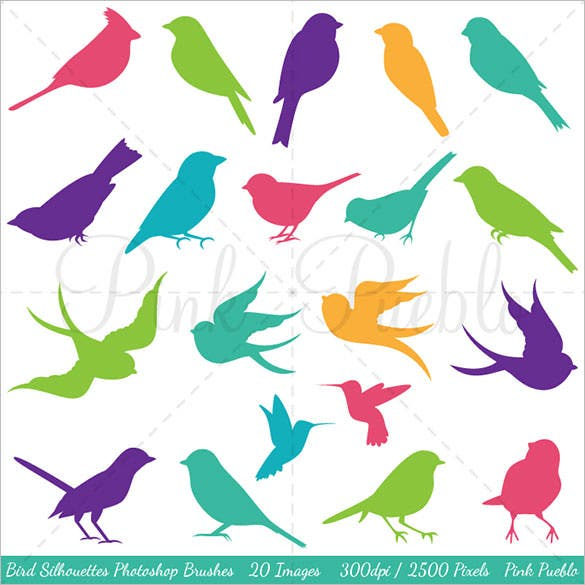 bird silhouettes photoshop brushes abr format
