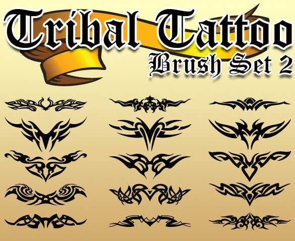 tribal tattoo brush set abr