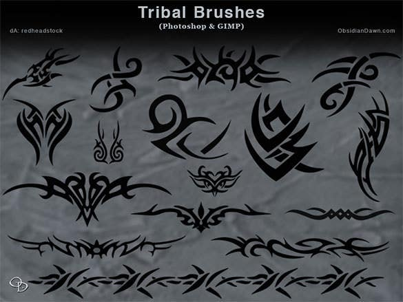 free download photoshop tribal and gimp brushes