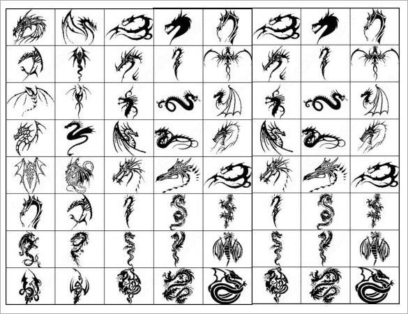download dragon tattoo brush photoshop brushes