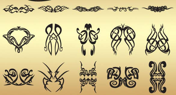 premium tattoo brush set tribal photoshop