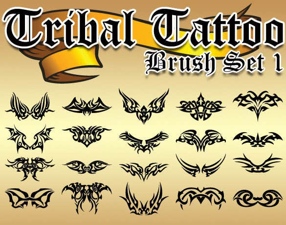 best tribal tattoo brush set photoshop