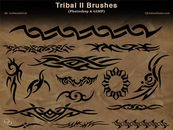 download tribal ii photoshop and gimp brushes