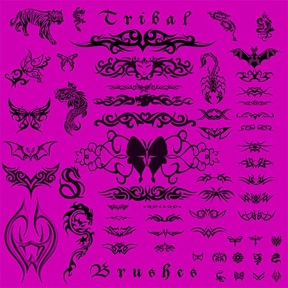 abr format tribal tattoo brushes download