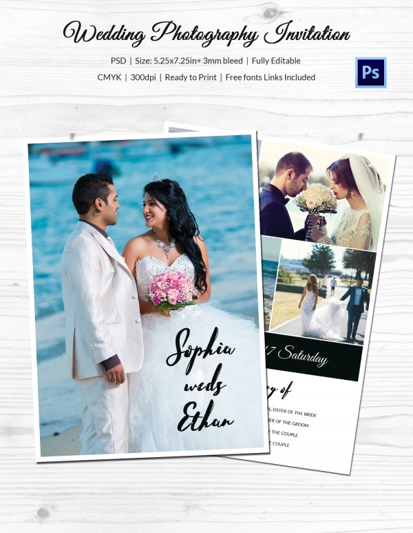 Wedding Photography Invitation Template