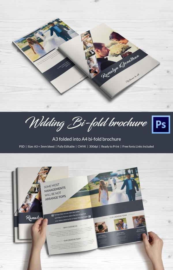 Printable Wedding Invitation Brochure Download