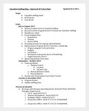 Classified-Staffing-Plan-PDF-Template-Free
