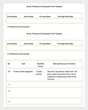 School-Professional-Development-Plan-Free-Word