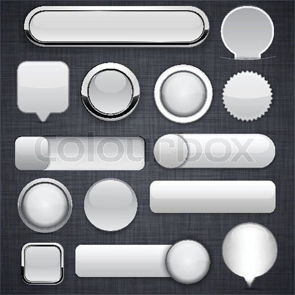 grey high detailed modern buttons