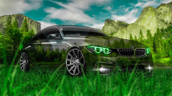 BMW M4 Crystal Nature Free Desktop Wallpaper