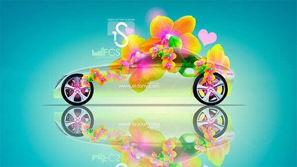 volvo t6 fantasy flowers download backgrounds