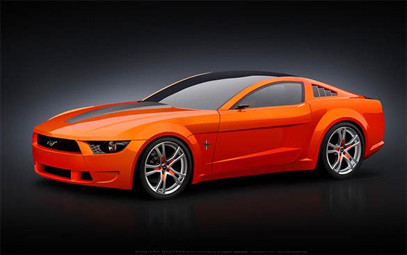 giugiaro mustang vector backgrounds for computer