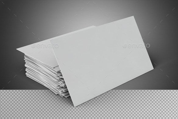 photoshop blank business card template