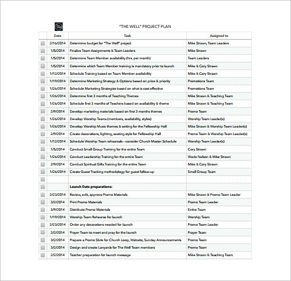 29+ Project Plan Template - DOC, Excel, PDF | Free & Premium Templates