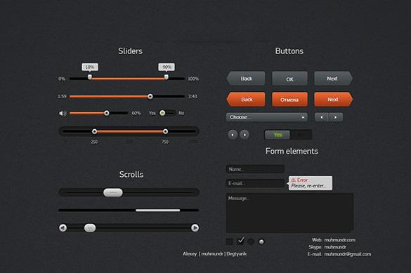 dark web ui buttons download