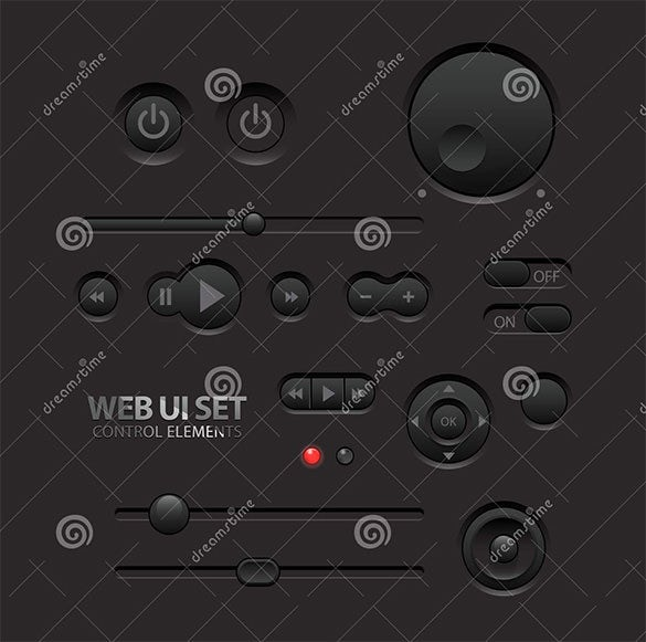 dark web ui buttons for download