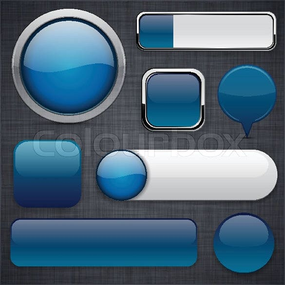 blank dark blue web buttons