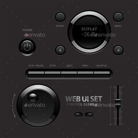 dark shiny web ui buttons download