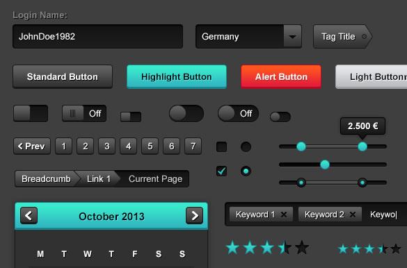 100 premium web user interface kit