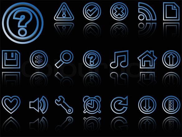 abstract vector dark web buttons