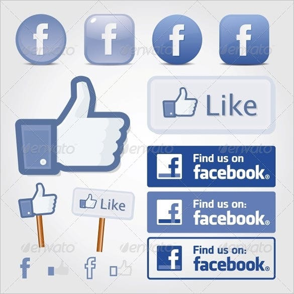 20 Facebook Buttons Free Psd Eps Vector Format Download Free