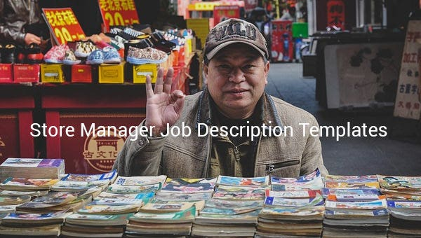 store manager job description template