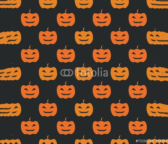 halloween seamless carving pattern