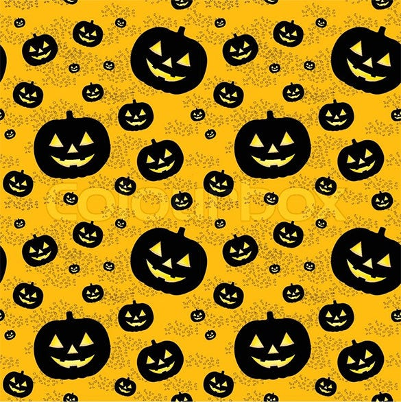 seamless carving pattern with black pumpkins