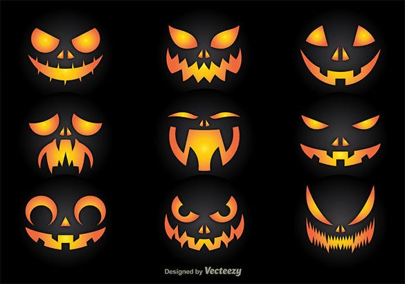 free halloween craved pumpkin pattern
