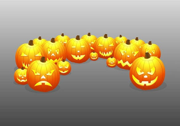 scary pumpkins carving pattern for free
