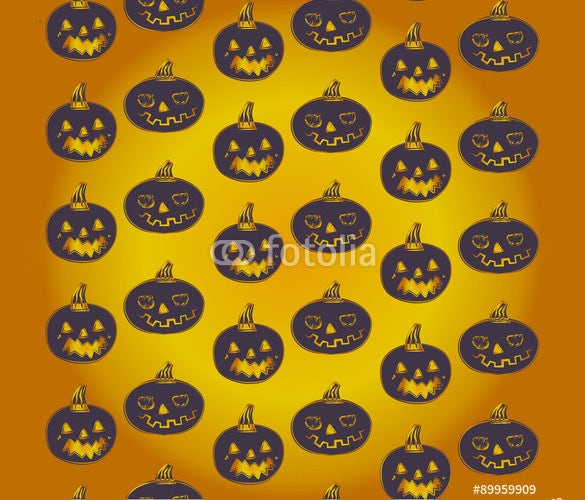 halloween vector pumpkin carving pattern