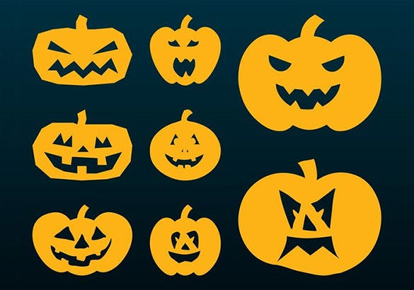 halloween pumpkins silhouettes carving pattern