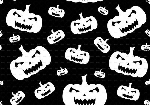 seamless halloween background pumpkin pattern