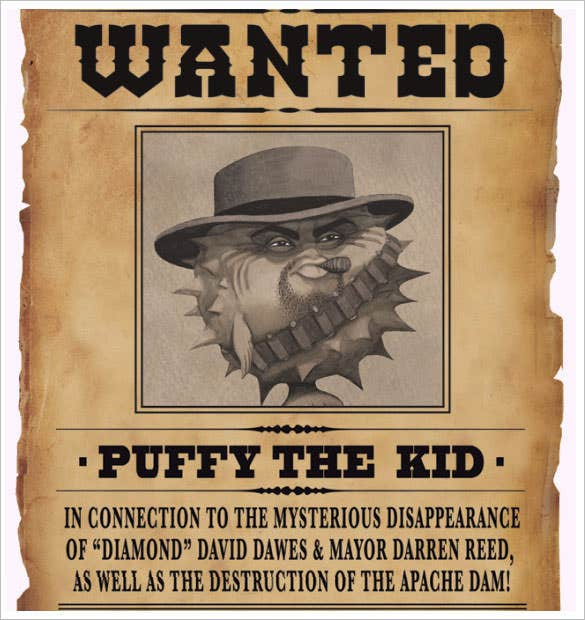 Wanted Poster Template 53 Free Printable Word PSD – Sample Wanted Poster