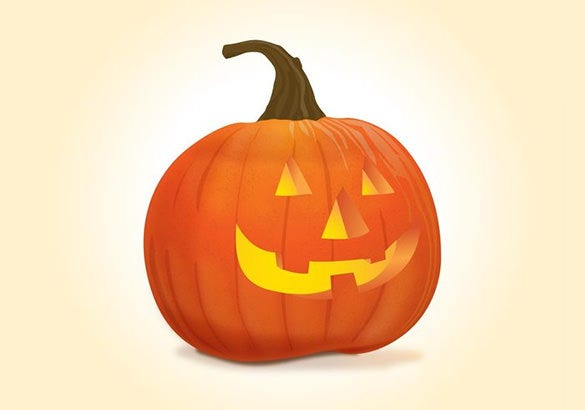 vector halloween pumpkin pattern for free